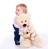 Little girl with Teddybears Stock Image