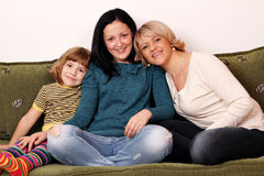Little girl teenage girl and woman Stock Images