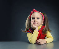 Little girl thinking Royalty Free Stock Photography