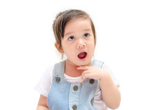Little girl thinking or dreaming Royalty Free Stock Image