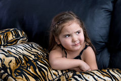 Little girl thinking Stock Photography
