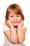 Little girl thinking. Small student. Stock Image