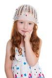 Little girl thinks Stock Image