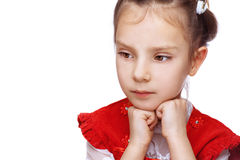 Little girl thought Royalty Free Stock Photography