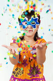 Little Girl Throws Confetti Royalty Free Stock Photo