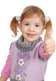 Little girl with thumb up Royalty Free Stock Photography