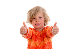 Little girl with thumbs up Stock Image