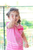Little girl with thumbs up Royalty Free Stock Photography