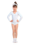 Little girl in tights Stock Photo