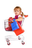 Little girl tired of shopping Royalty Free Stock Photography