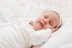 The little girl to go to bed Stock Image