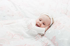 The little girl to go to bed Stock Photography