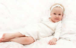 The little girl to go to bed Royalty Free Stock Photography