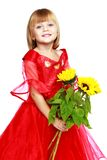 Little girl to school Royalty Free Stock Photos