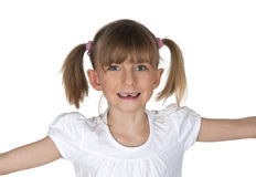 Little girl with tooth gap Stock Photos