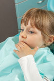 Little girl tooth pain Royalty Free Stock Photography