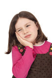 Little girl with toothache Stock Photo