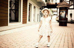 Little girl tourist Stock Photography