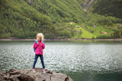 Little girl tourist Royalty Free Stock Photography