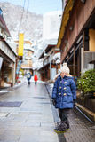 Little girl at town in Japan Stock Image