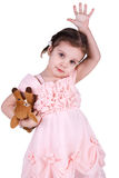 Little girl with the toy Stock Photos