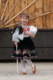 Little girl in traditional costume stock photography