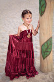 Little girl in traditional oriental clothing and jewellery Stock Photography