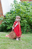 Little girl in a traditional Russian national sundress Royalty Free Stock Image