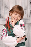Little girl in traditional Ukrainian costume Royalty Free Stock Images