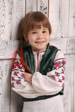 Little girl in traditional Ukrainian costume Stock Photo
