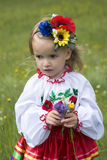 Little girl in traditional Ukrainian costume Royalty Free Stock Photography