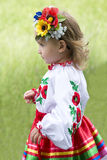 Little girl in traditional Ukrainian costume Royalty Free Stock Photo