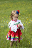 Little girl in traditional Ukrainian costume Stock Images