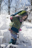 Little girl traveler in fabulous clothes Royalty Free Stock Images