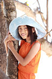 Little girl with tree Stock Photos