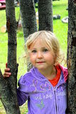 Little girl in the trees Royalty Free Stock Photo
