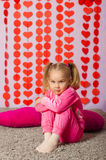 Little girl in  trendy sportswear Royalty Free Stock Images