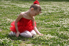 Little girl in a tutu royalty free stock photography