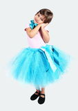 Little Girl in Tutu Skirt Stock Photo