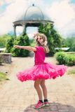 Little Girl Twirling, Dancing Royalty Free Stock Images
