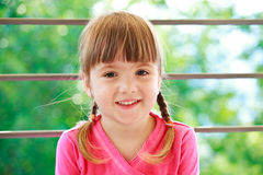 Little girl with two plaits Royalty Free Stock Photo