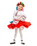 Little girl in Ukrainian costume Stock Images