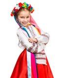 Little girl in Ukrainian costume Stock Photos