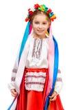 Little girl in Ukrainian costume Stock Photography
