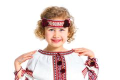 Little girl in Ukrainian national costume Royalty Free Stock Image