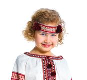 Little girl in Ukrainian national costume Royalty Free Stock Images
