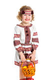 Little girl in Ukrainian national costume Stock Photos