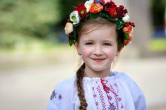 Little girl in Ukrainian Royalty Free Stock Images