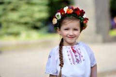 Little girl in Ukrainian Royalty Free Stock Photos