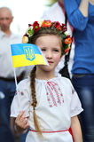 Little girl in Ukrainian national costume Stock Image